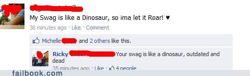 dinosaur,oh snap,swag,witty reply