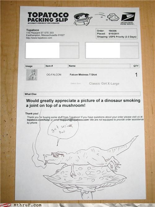 customer service delivery dinosaur drugs mail package whydidiwriteallthatmovieplot - 4918286592