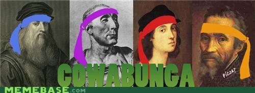 cowabunga,history,leonardo,Memes,ninja turtles,painters