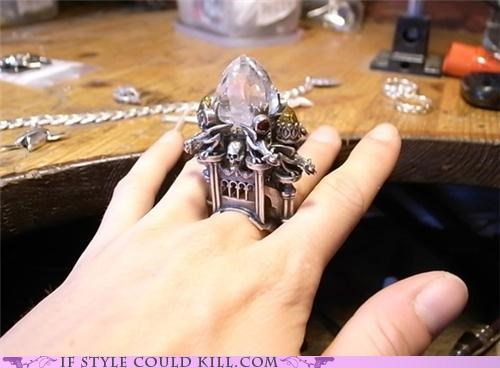 cool accessories gothic ring of the day rings skull - 4918636032