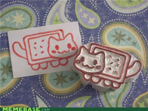 animemes IRL nyan Nyan Cat poptarts stamp - 4918720000