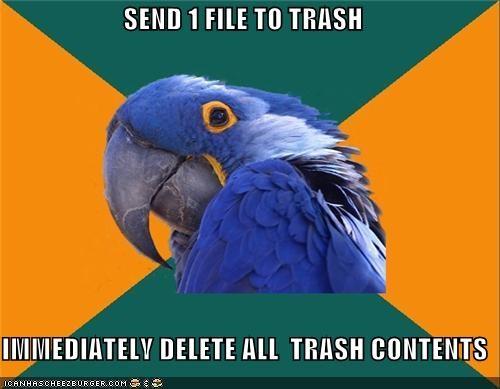 computers delete file Paranoid Parrot trash - 4918740224