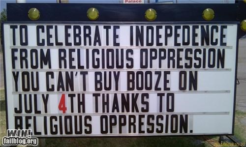4 of july alcohol Hall of Fame holiday logic marquee signs