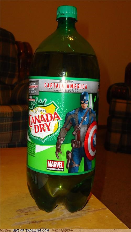 canada dry captain america ginger ale IRL pop soda - 4919560448