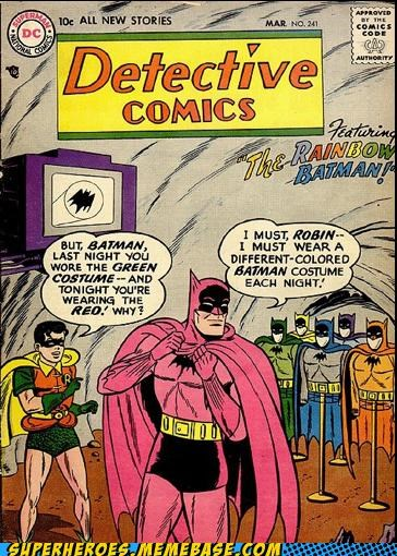 batman pink rainbow red robin Straight off the Page wtf - 4919618304