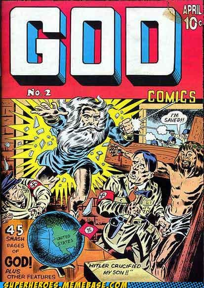 comics god hitler Straight off the Page superheroes wtf - 4919623680