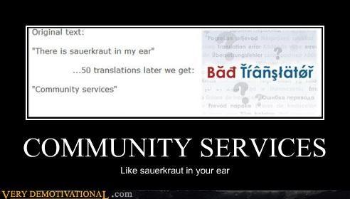 community services ear hilarious sauerkraut wtf - 4920077312