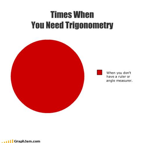 math Pie Chart practical applications trigonometry - 4920526848