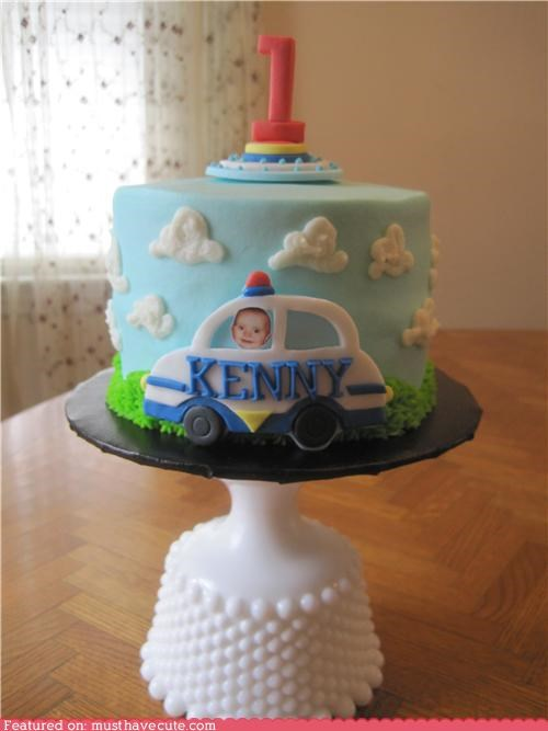 baby birthday cake car epicute Kenny police - 4920537088