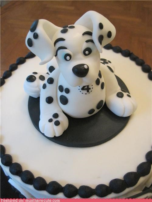 4 birthday cake dalmatian epicute puppy - 4920541440