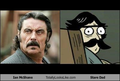 actors Ian McShane stare dad