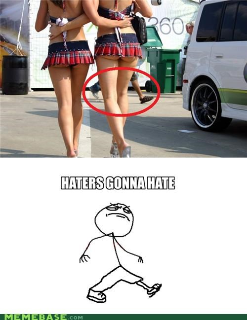 hate haters leg pants Rage Comics - 4920663296