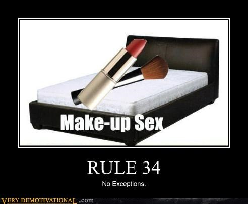 Make up pun made into a meme about rule 34