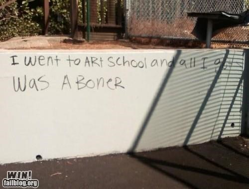 art school boners education grafitti hacked irl p33n
