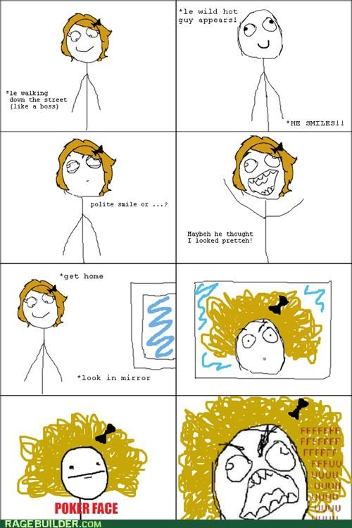 frizz hair hot guy Rage Comics - 4921651200