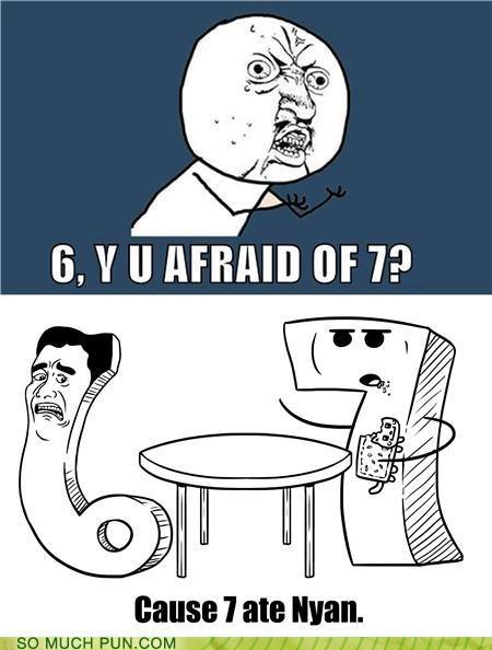 ate cliché comic literalism meme Memes nine nyan old joke sauce seven similar sounding - 4921655808