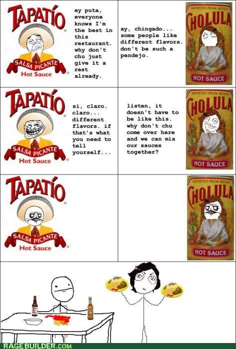 cholula hot sauce Rage Comics salsa tapatio - 4921678848