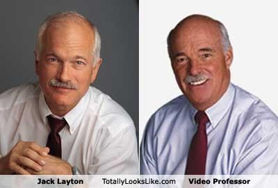 jack layton moustache ndp politician Video Professor - 4921790464