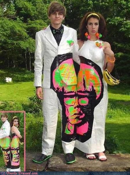 Andy Warhol art duct tape prom - 4921827072