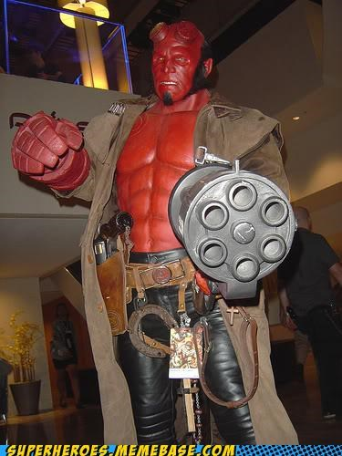 amazing,gatling gun,hellboy,Super Costume,sweet
