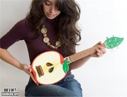 apple,clever,fruit,guitar,instuments,Music,ukelele