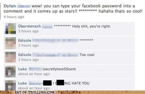 facebook password secret stars
