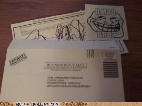 application credit card IRL junk mail u mad bro - 4922415360