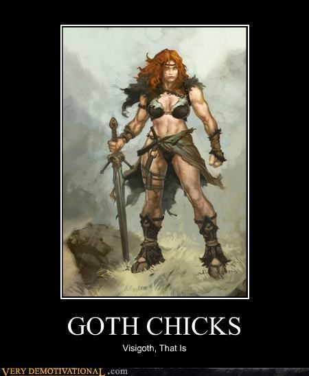art awesome barbarian goth chicks hilarious visigoth