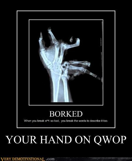 hands hilarious ouch QWOP x ray - 4923479808