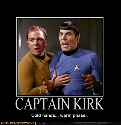 Captain Kirk,hilarious,phaser,Spock,Star Trek