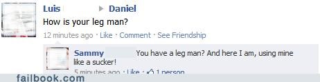 Commas are so overrated...like legs