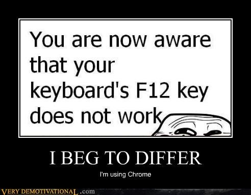 chrome,computers,f12,hilarious,keyboard,troll