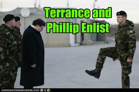 Terrance and Phillip Enlist