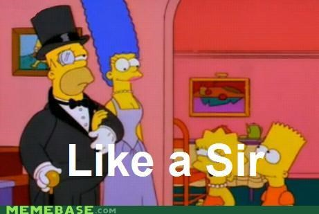cartoons,homer simpson,sir,monocle,simpsons,television