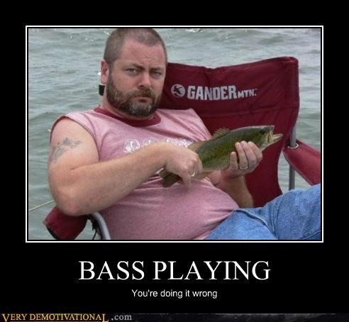 bass doing it wrong fish Hall of Fame hilarious