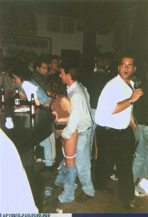 bar,pantsless,wtf