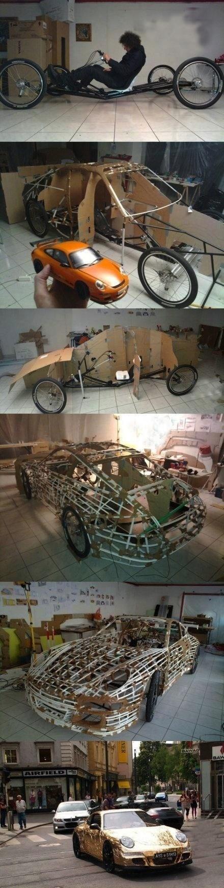 awesome bike car IRL porsche