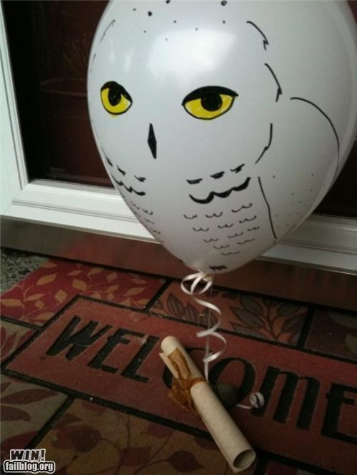 clever,delivery,Harry Potter,hedwig,message,note