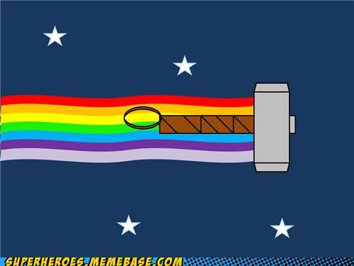 Awesome Art hammer Memes mjolnir Nyan Cat Thor - 4924731648