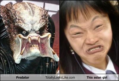 Asian girl funny face Hall of Fame Predator