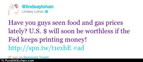 economy,inflation,lindsay lohan,political pictures,twitter