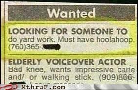 hula hoop want ad yard work - 4925074944