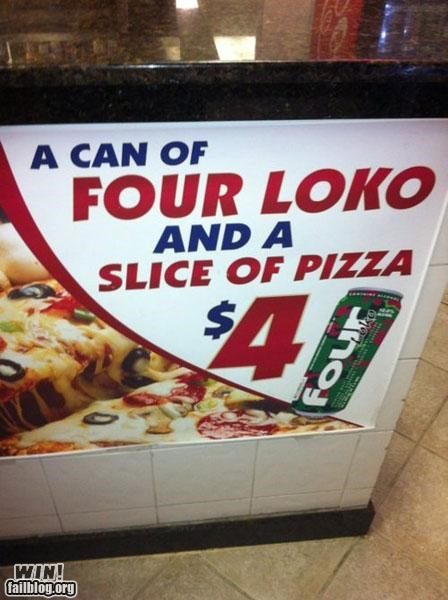 Ad,alcohol,food,four loko,pizza