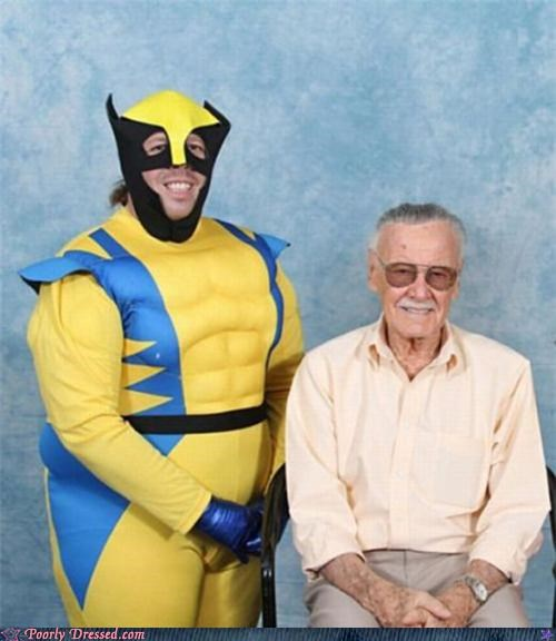 cosplay costume stan lee wolverine - 4925363712
