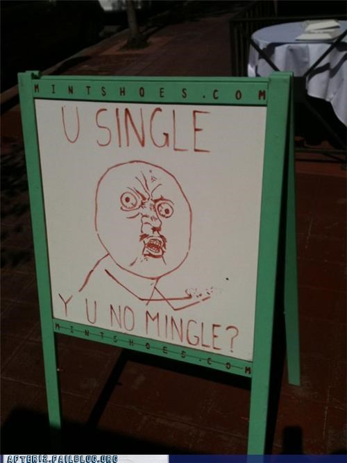meme mingle Y U No Guy - 4925400320