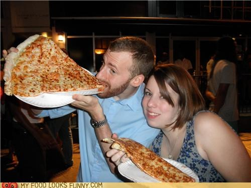 big giant huge pizza plates slice - 4925415168