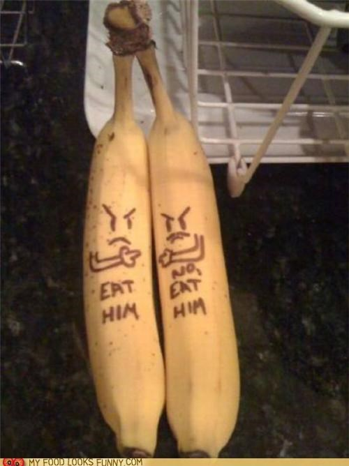 bananas eat him faces not me pair twins - 4925474560