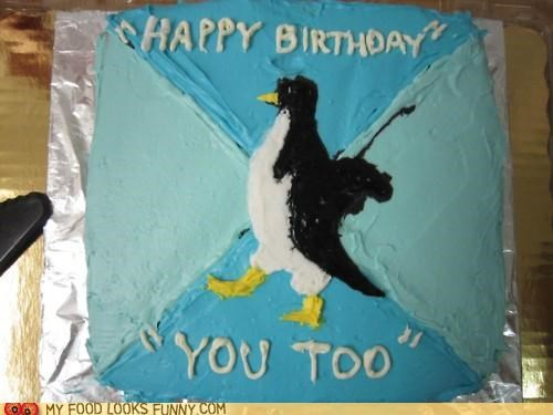 birthday cake happy birthday meme socially awkward penguin - 4925494784