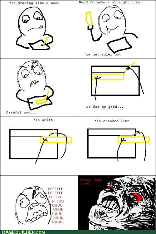 drawing lines Rage Comics ruler