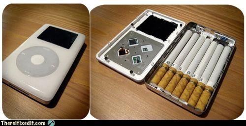 Apple product cigarettes dual use ipod